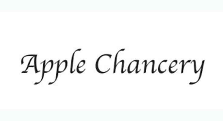 Apple Chancery Font Free Download